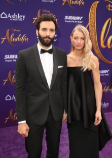 """LOS ANGELES, CA - MAY 21: Marwan Kenzari (L) and Nora Ponse attend the World Premiere of Disney's """"Aladdin"""" at the El Capitan Theater in Hollywood CA on May 21, 2019, in the culmination of the film's Magic Carpet World Tour with stops in Paris, London, Berlin, Tokyo, Mexico City and Amman, Jordan. (Photo by Jesse Grant/Getty Images for Disney) *** Local Caption *** Marwan Kenzari; Nora Ponse"""