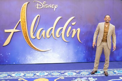 """Will Smith attends the European Gala Screening of Disney's """"Aladdin"""" on May 9th at London's ODEON Luxe in Leicester Square, London UK."""