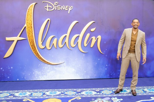 "Will Smith attends the European Gala Screening of Disney's ""Aladdin"" on May 9th at London's ODEON Luxe in Leicester Square, London UK."