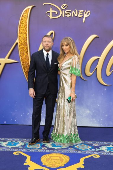 Guy Ritchie and Jacqui Ainsley attend the European Gala Screening of DisneyÕs ÒAladdinÓ on May 9th at LondonÕs ODEON Luxe in Leicester Square, London UK.