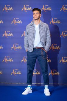 "Mena Massoud attends the photo call to celebrate the release of Disney's ""Aladdin"" on May 10th in London, UK"