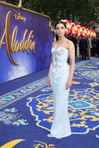Naomi Scott attends the European Gala Screening of DisneyÕs ÒAladdinÓ on May 9th at LondonÕs ODEON Luxe in Leicester Square, London UK.