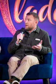 "Guy Ritchie attends the press conference to celebrate the release of Disney's ""Aladdin"" on May 10th in London, UK"