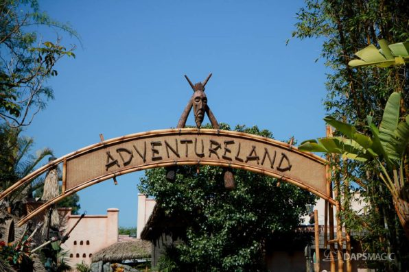 Adventureland Sign at Disneyland