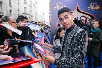 "PARIS, FRANCE – May 08: Mena Massoud attends the ""Aladdin"" Paris Gala Screening at Cinema Le Grand Rex on May 08, 2019 in Paris, France."