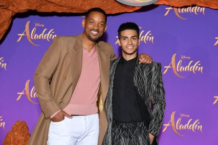 """PARIS, FRANCE - MAY 08: Will Smith and Mena Massoud attend the """"Aladdin"""" gala screening at Le Grand Rex on May 08, 2019 in Paris, France. (Photo by Pascal Le Segretain/Getty Images For Disney)"""