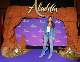 """PARIS, FRANCE - MAY 08: Malika Menard attends the """"Aladdin"""" gala screening at Le Grand Rex on May 08, 2019 in Paris, France. (Photo by Pascal Le Segretain/Getty Images For Disney)"""