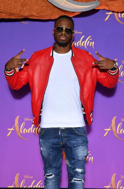 """PARIS, FRANCE - MAY 08: Dadju attends the """"Aladdin"""" gala screening at Le Grand Rex on May 08, 2019 in Paris, France. (Photo by Pascal Le Segretain/Getty Images For Disney)"""