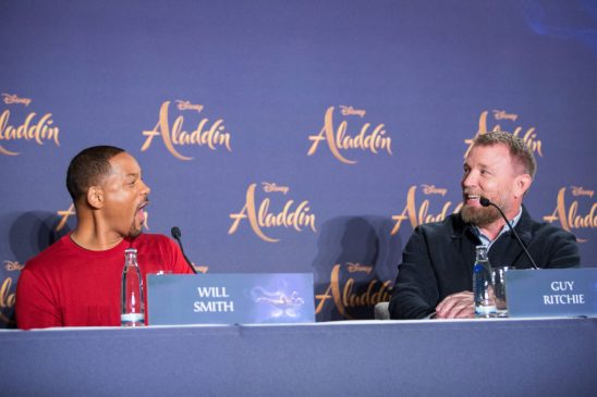 """(L-R) Will Smith and Guy Ritchie attend the """"Aladdin"""" press conference on May 11, 2019 in Berlin, Germany. .© Disney/Folioscope/Hanna Boussouar"""