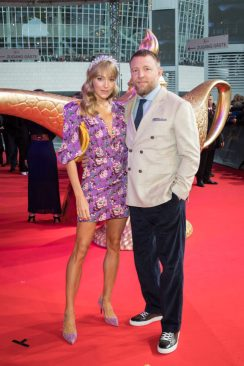 """Guy Ritchie and Jacqui Ainsley attend the """"Aladdin"""" gala screening on May 11, 2019 in Berlin, Germany. .© Disney/Folioscope/Hanna Boussouar"""