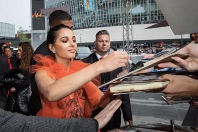 "Naomi Scott attends the ""Aladdin"" gala screening on May 11, 2019 in Berlin, Germany. .© Disney/Folioscope/Hanna Boussouar"