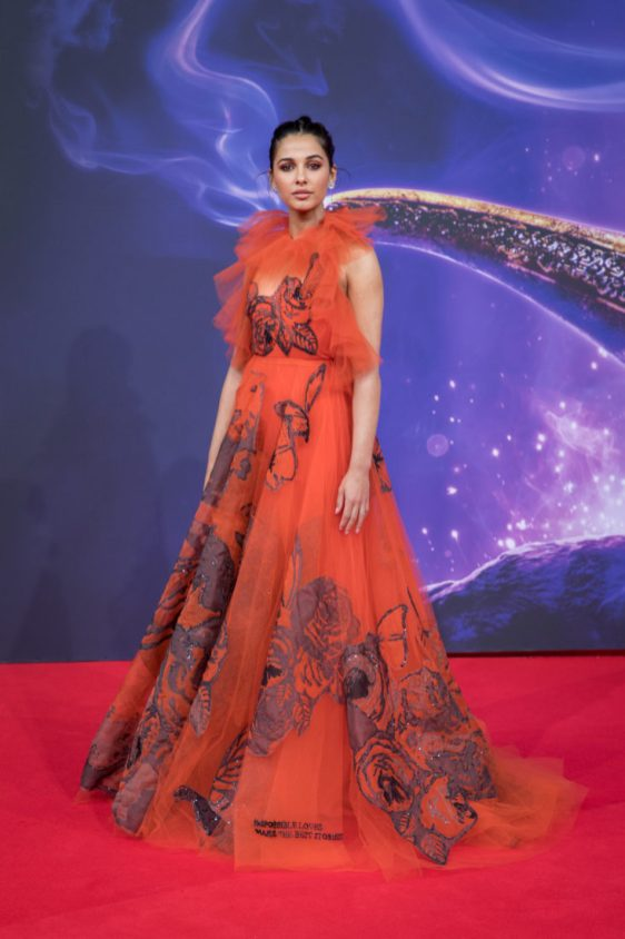 "Naomi Scott attends the ""Aladdin"" gala screening on May 11, 2019 in Berlin, Germany. .© Disney/Folioscope/Silke Reents"
