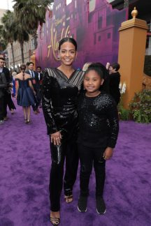 Christina Milian and Violet Madison Nash attend the World Premiere of DisneyÕs Aladdin at the El Capitan Theater in Hollywood, CA on Tuesday, May 21, 2019, in the culmination of the filmÕs Magic Carpet World Tour with stops in Paris, London, Berlin, Tokyo, Mexico City and Amman, Jordan. (photo: Alex J. Berliner/ABImages)
