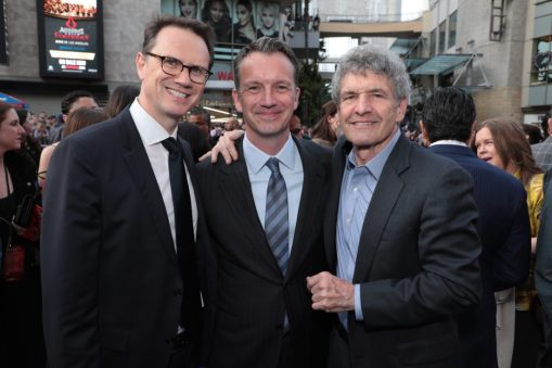 Peter Rice, Sean Bailey and Alan Horn attend the World Premiere of DisneyÕs Aladdin at the El Capitan Theater in Hollywood, CA on Tuesday, May 21, 2019, in the culmination of the filmÕs Magic Carpet World Tour with stops in Paris, London, Berlin, Tokyo, Mexico City and Amman, Jordan. (photo: Alex J. Berliner/ABImages)
