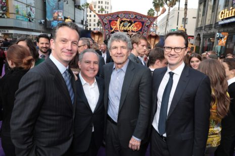 Sean Bailey, Alan Bergman, Alan Horn and Peter Rice attend the World Premiere of DisneyÕs Aladdin at the El Capitan Theater in Hollywood, CA on Tuesday, May 21, 2019, in the culmination of the filmÕs Magic Carpet World Tour with stops in Paris, London, Berlin, Tokyo, Mexico City and Amman, Jordan. (photo: Alex J. Berliner/ABImages)