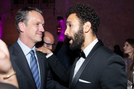 Sean Bailey and Marwan Kenzari attend the World Premiere of Disney's Aladdin after party at the Roosevelt Hotel in Hollywood, CA on Tuesday, May 21, 2019, in the culmination of the film's Magic Carpet World Tour with stops in Paris, London, Berlin, Tokyo, Mexico City and Amman, Jordan. (photo: Alex J. Berliner/ABImages)