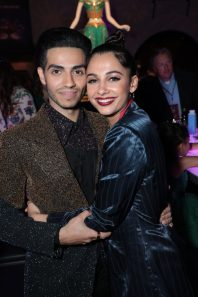 Mena Massoud and Naomi Scott attend the World Premiere of DisneyÕs Aladdin after party at the Roosevelt Hotel in Hollywood, CA on Tuesday, May 21, 2019, in the culmination of the filmÕs Magic Carpet World Tour with stops in Paris, London, Berlin, Tokyo, Mexico City and Amman, Jordan. (photo: Alex J. Berliner/ABImages)