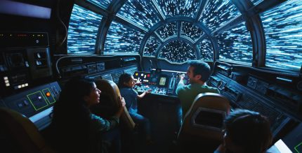 Inside Millennium Falcon: Smugglers Run, Disney guests will take the controls in one of three unique and critical roles aboard the fastest ship in the galaxy when Star Wars: Galaxy's Edge opens in summer 2019 at Disneyland Resort in California and fall 2019 at Walt Disney World Resort in Florida. (Disney Parks)