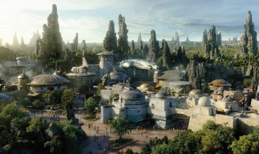 Star Wars: Galaxy's Edge at Disneyland Park in Anaheim, California and at Disney's Hollywood Studios in Lake Buena Vista, Florida, is Disney's largest single-themed land expansion ever at 14-acres each, transporting guests to Black Spire Outpost, a village on the never-before- seen planet of Batuu. Guests will discover two signature attractions. Millennium Falcon: Smugglers Run, available opening day, and Star Wars: Rise of the Resistance, opening later this year. (Disney Parks)
