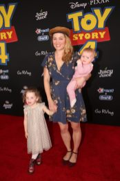 HOLLYWOOD, CA - JUNE 11: Erika Christensen and family attend the world premiere of Disney and Pixar's TOY STORY 4 at the El Capitan Theatre in Hollywood, CA on Tuesday, June 11, 2019. (Photo by Jesse Grant/Getty Images for Disney) *** Local Caption *** Erika Christensen