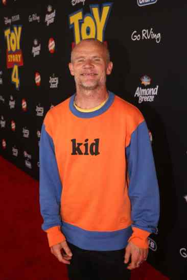 HOLLYWOOD, CA - JUNE 11: Flea of Red Hot Chili Peppers attends the world premiere of Disney and Pixar's TOY STORY 4 at the El Capitan Theatre in Hollywood, CA on Tuesday, June 11, 2019. (Photo by Jesse Grant/Getty Images for Disney) *** Local Caption *** Flea