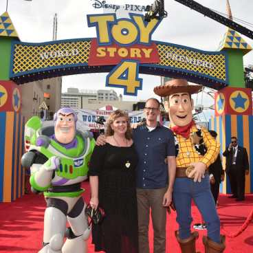 HOLLYWOOD, CA - JUNE 11: (L-R) Amanda Docter and Chief Creative Officer of Pixar Animation Studios Pete Docter attend the world premiere of Disney and Pixar's TOY STORY 4 at the El Capitan Theatre in Hollywood, CA on Tuesday, June 11, 2019. (Photo by Alberto E. Rodriguez/Getty Images for Disney) *** Local Caption *** Amanda Docter; Pete Docter