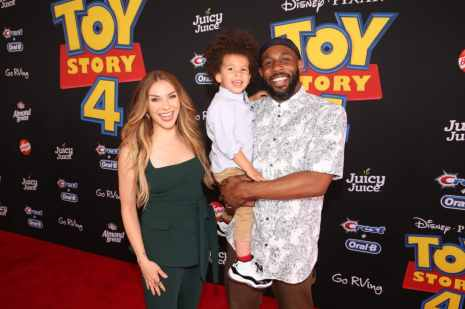 "HOLLYWOOD, CA - JUNE 11: (L-R) Allison Holker, Maddox Laurel Boss, and Stephen Laurel ""tWitch"" Boss attend the world premiere of Disney and Pixar's TOY STORY 4 at the El Capitan Theatre in Hollywood, CA on Tuesday, June 11, 2019. (Photo by Jesse Grant/Getty Images for Disney) *** Local Caption *** Stephen Laurel ""tWitch"" Boss; Allison Holker; Maddox Laurel Boss"