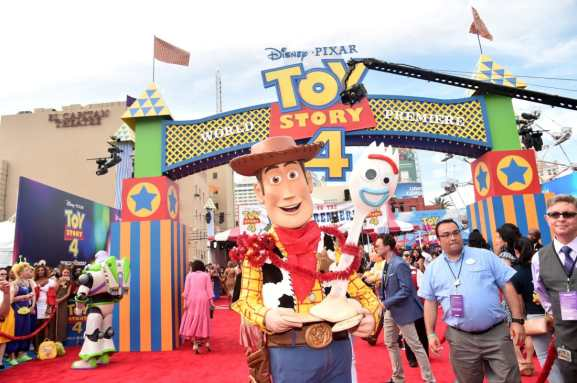HOLLYWOOD, CA - JUNE 11: Characters are seen during the world premiere of Disney and Pixar's TOY STORY 4 at the El Capitan Theatre in Hollywood, CA on Tuesday, June 11, 2019. (Photo by Alberto E. Rodriguez/Getty Images for Disney)