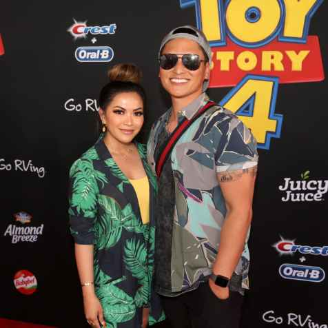 HOLLYWOOD, CA - JUNE 11: Heart Defensor (L) and guest attend the world premiere of Disney and Pixar's TOY STORY 4 at the El Capitan Theatre in Hollywood, CA on Tuesday, June 11, 2019. (Photo by Jesse Grant/Getty Images for Disney) *** Local Caption *** Heart Defensor