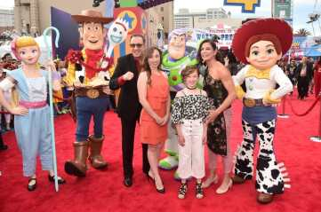 HOLLYWOOD, CA - JUNE 11: Tim Allen, Jane Hajduk, and family attend the world premiere of Disney and Pixar's TOY STORY 4 at the El Capitan Theatre in Hollywood, CA on Tuesday, June 11, 2019. (Photo by Alberto E. Rodriguez/Getty Images for Disney) *** Local Caption *** Jane Hajduk; Tim Allen