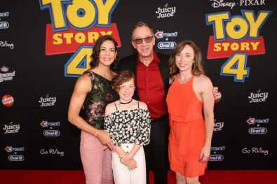 HOLLYWOOD, CA - JUNE 11: (L-R) Jane Hajduk, Tim Allen, and family attend the world premiere of Disney and Pixar's TOY STORY 4 at the El Capitan Theatre in Hollywood, CA on Tuesday, June 11, 2019. (Photo by Jesse Grant/Getty Images for Disney) *** Local Caption *** Jane Hajduk; Tim Allen