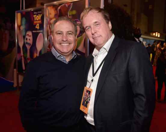 HOLLYWOOD, CA - JUNE 11: (L-R) Walt Disney Studios President Alan Bergman and Brad Bird attend the world premiere of Disney and Pixar's TOY STORY 4 at the El Capitan Theatre in Hollywood, CA on Tuesday, June 11, 2019. (Photo by Alberto E. Rodriguez/Getty Images for Disney) *** Local Caption *** Brad Bird; Alan Bergman
