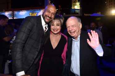 HOLLYWOOD, CA - JUNE 11: (L-R) Keegan-Michael Key, Annie Potts, and Wallace Shawn attend the world premiere of Disney and Pixar's TOY STORY 4 at the El Capitan Theatre in Hollywood, CA on Tuesday, June 11, 2019. (Photo by Alberto E. Rodriguez/Getty Images for Disney) *** Local Caption *** Wallace Shawn; Annie Potts; Keegan-Michael Key