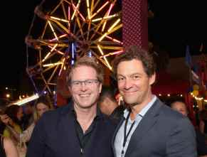HOLLYWOOD, CA - JUNE 11: (L-R) Executive producer/screenwriter Andrew Stanton and Dominic West attend the world premiere of Disney and Pixar's TOY STORY 4 at the El Capitan Theatre in Hollywood, CA on Tuesday, June 11, 2019. (Photo by Jesse Grant/Getty Images for Disney) *** Local Caption *** Dominic West; Andrew Stanton