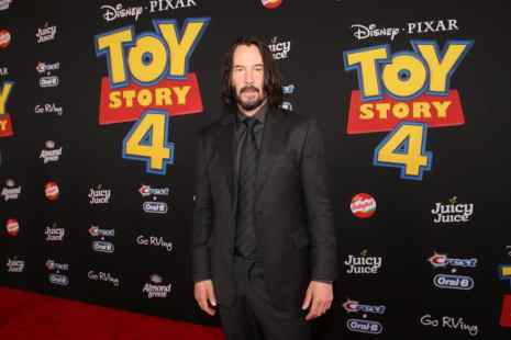 HOLLYWOOD, CA - JUNE 11: Keanu Reeves attends the world premiere of Disney and Pixar's TOY STORY 4 at the El Capitan Theatre in Hollywood, CA on Tuesday, June 11, 2019. (Photo by Jesse Grant/Getty Images for Disney) *** Local Caption *** Keanu Reeves
