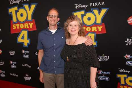 HOLLYWOOD, CA - JUNE 11: (L-R) Chief Creative Officer of Pixar Animation Studios Pete Docter and Amanda Docter attend the world premiere of Disney and Pixar's TOY STORY 4 at the El Capitan Theatre in Hollywood, CA on Tuesday, June 11, 2019. (Photo by Jesse Grant/Getty Images for Disney) *** Local Caption *** Amanda Docter; Pete Docter