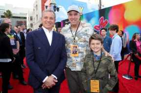 HOLLYWOOD, CA - JUNE 11: (L-R) The Walt Disney Company Chairman and CEO Bob Iger, Kevin Nealon, and Gable Ness Nealon attend the world premiere of Disney and Pixar's TOY STORY 4 at the El Capitan Theatre in Hollywood, CA on Tuesday, June 11, 2019. (Photo by Rich Polk/Getty Images for Disney) *** Local Caption *** Kevin Nealon; Gable Ness Nealon; Bob Iger