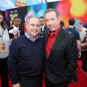 HOLLYWOOD, CA - JUNE 11: Walt Disney Studios President, Alan Bergman (L) and Tim Allen attend the world premiere of Disney and Pixar's TOY STORY 4 at the El Capitan Theatre in Hollywood, CA on Tuesday, June 11, 2019. (Photo by Rich Polk/Getty Images for Disney) *** Local Caption *** Alan Bergman; Tim Allen