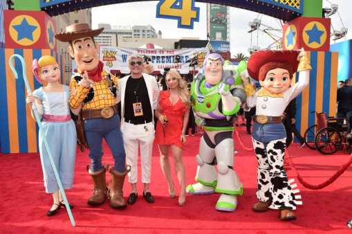 HOLLYWOOD, CA - JUNE 11: Casey Barker (L) and Saffron Barker attend the world premiere of Disney and Pixar's TOY STORY 4 at the El Capitan Theatre in Hollywood, CA on Tuesday, June 11, 2019. (Photo by Alberto E. Rodriguez/Getty Images for Disney) *** Local Caption *** Casey Barker; Saffron Barker