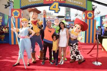 HOLLYWOOD, CA - JUNE 11: Flea and family attend the world premiere of Disney and Pixar's TOY STORY 4 at the El Capitan Theatre in Hollywood, CA on Tuesday, June 11, 2019. (Photo by Alberto E. Rodriguez/Getty Images for Disney) *** Local Caption *** Flea