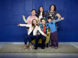 "COOP AND CAMI ASK THE WORLD - Disney Channel's ""Coop and Cami Ask the World"" stars Albert Tsai as Fred, Ruby Rose Turner as Cameron, Olivia Sanabia as Charlotte, Dakota Lotus as Cooper, Paxton Booth as Ollie, and Rebecca Metz as Jenna. (Disney Channel/Craig Sjodin)"