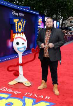 """LONDON, ENGLAND - JUNE 16: Rag'n'Bone Man attends the European premiere of Disney and Pixar's """"Toy Story 4"""" at the Odeon Luxe Leicester Square on June 16, 2019 in London, England. (Photo by Gareth Cattermole/Getty Images for Disney and Pixar)"""