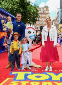 "LONDON, ENGLAND - JUNE 16: Dan Osborne, Jacqueline Jossa and family attend the European premiere of Disney and Pixar's ""Toy Story 4"" at the Odeon Luxe Leicester Square on June 16, 2019 in London, England. (Photo by Gareth Cattermole/Getty Images for Disney and Pixar)"