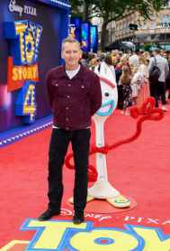 "LONDON, ENGLAND - JUNE 16: Christopher Eccleston attends the European premiere of Disney and Pixar's ""Toy Story 4"" at the Odeon Luxe Leicester Square on June 16, 2019 in London, England. (Photo by Gareth Cattermole/Getty Images for Disney and Pixar)"