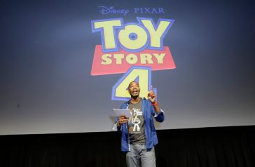 ORLANDO, FLORIDA - JUNE 08: Mark Daniel surprises fans at an early screening of Pixar's TOY STORY 4 at Disney's Hollywood Studios on June 08, 2019 in Orlando, Florida. (Photo by John Parra/Getty Images for Disney)