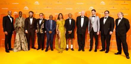 Keegan-Michael Key, Florence Kasumba, Seth Rogen, Elton John, Lebo M, BeyoncŽ Knowles-Carter, Pharrell Williams, Sir Tim Rice, Billy Eichner, Jon Favreau and Hans Zimmer attend the European Premiere of DisneyÕs ÒThe Lion KingÓ at the Odeon Leicester Square on 14th July 2019 in London, UK