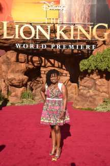 "HOLLYWOOD, CALIFORNIA - JULY 09: Niketa Calame-Harris attends the World Premiere of Disney's ""THE LION KING"" at the Dolby Theatre on July 09, 2019 in Hollywood, California. (Photo by Alberto E. Rodriguez/Getty Images for Disney)"