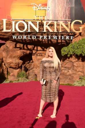 "HOLLYWOOD, CALIFORNIA - JULY 09: Meghan Trainor attends the World Premiere of Disney's ""THE LION KING"" at the Dolby Theatre on July 09, 2019 in Hollywood, California. (Photo by Alberto E. Rodriguez/Getty Images for Disney)"