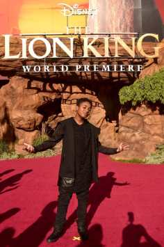 """HOLLYWOOD, CALIFORNIA - JULY 09: Issac Ryan Brown attends the World Premiere of Disney's """"THE LION KING"""" at the Dolby Theatre on July 09, 2019 in Hollywood, California. (Photo by Alberto E. Rodriguez/Getty Images for Disney)"""