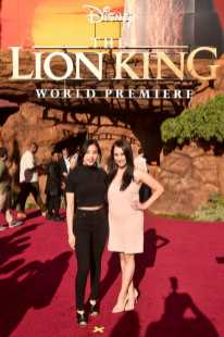 "HOLLYWOOD, CALIFORNIA - JULY 09: Anna Akana (L) attends the World Premiere of Disney's ""THE LION KING"" at the Dolby Theatre on July 09, 2019 in Hollywood, California. (Photo by Alberto E. Rodriguez/Getty Images for Disney)"